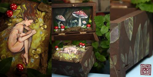Fairy mushroom forest box + SPEEDPAINT
