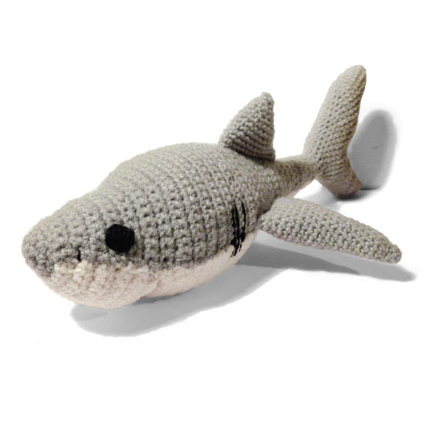 Amigurumi Crochet Shark Bookmark | 600x600
