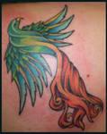 Rainbow Phoenix tattoo