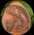 Bass fish tattoo