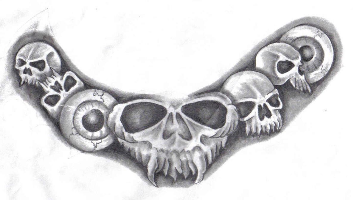 skull necklace by hellcatmolly on deviantart. Black Bedroom Furniture Sets. Home Design Ideas