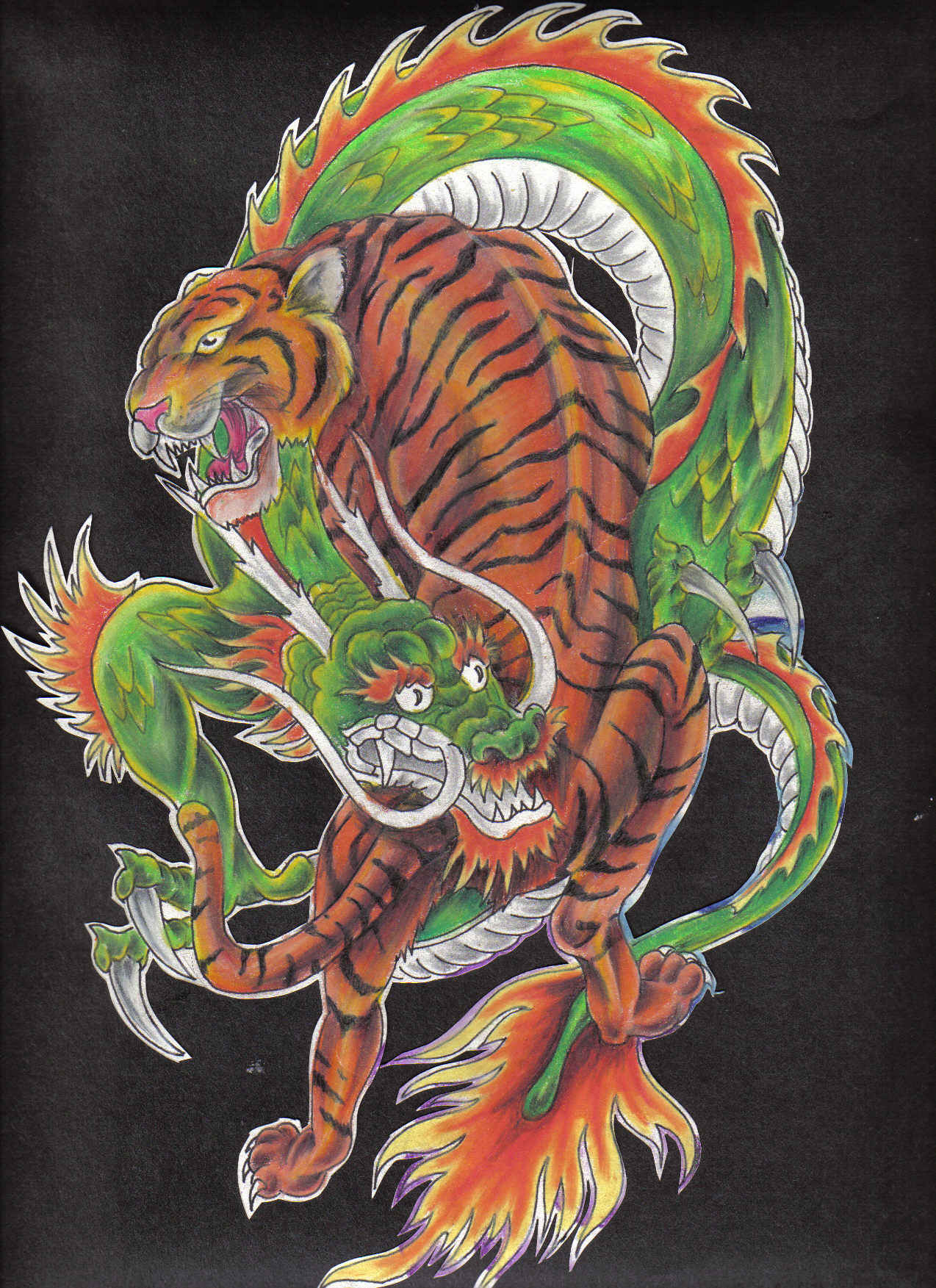 0aa4eda42 The tiger and the dragon by hellcatmolly on DeviantArt