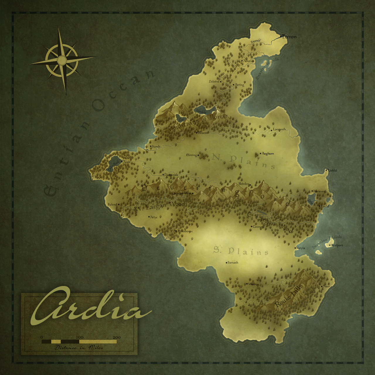 ardia regional fantasy map by ahobbiteer on deviantart