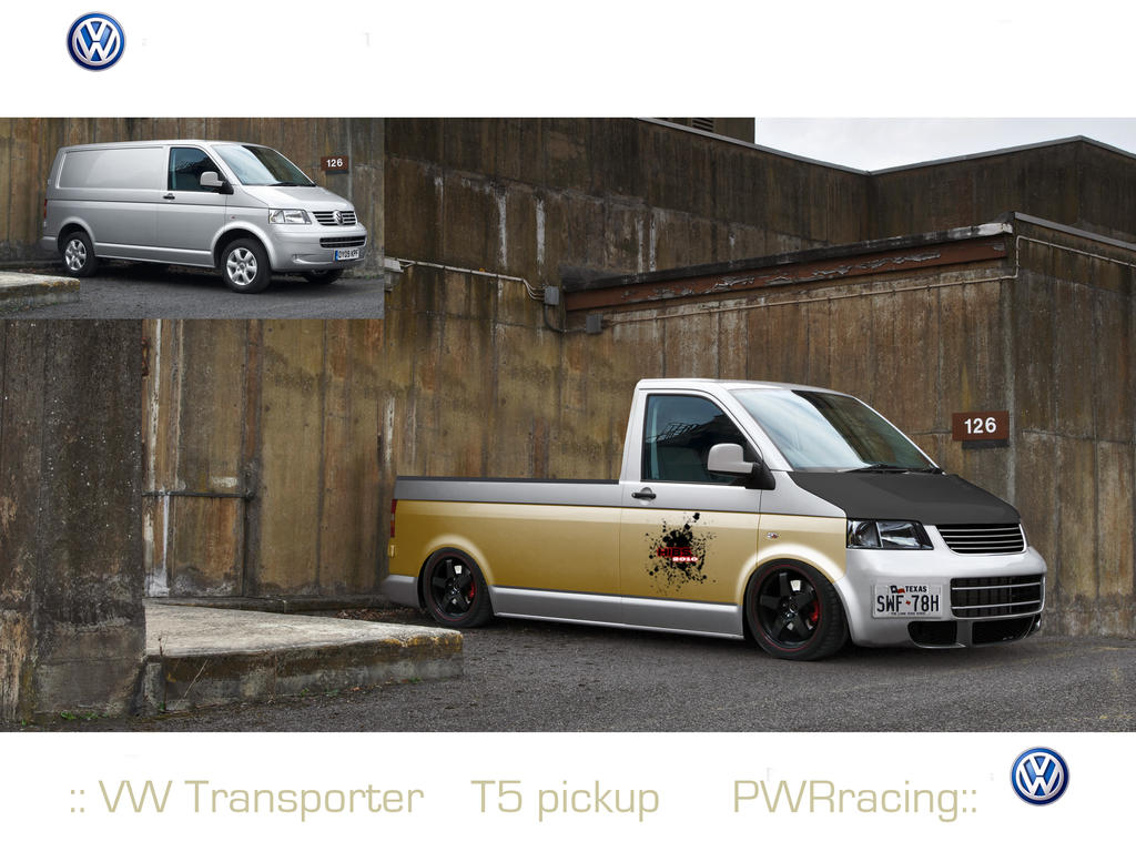 Vw Transporter T5 Pickup Rs By Hybs On Deviantart