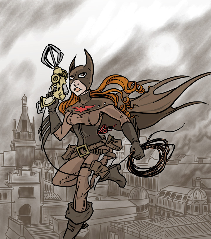 Steampunk Batgirl by mattblack