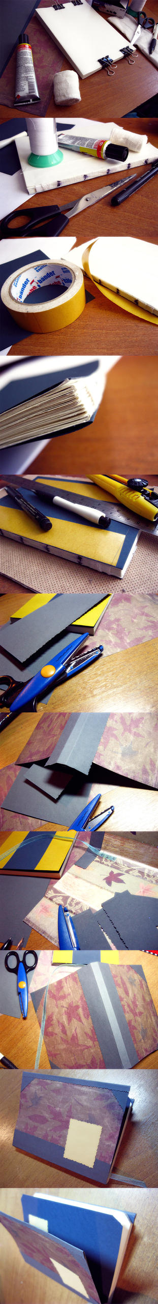 How to make sketchbook. Steps by Piromanova