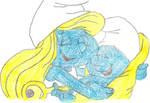 Smurfette and baby Smurf