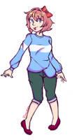 Sayori -colored sketch commission-