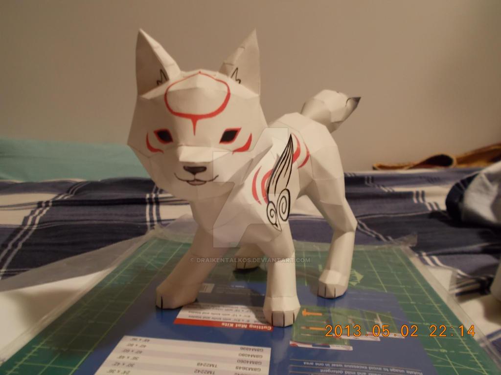 Chibiterasu Papercraft by DraikenTalkos