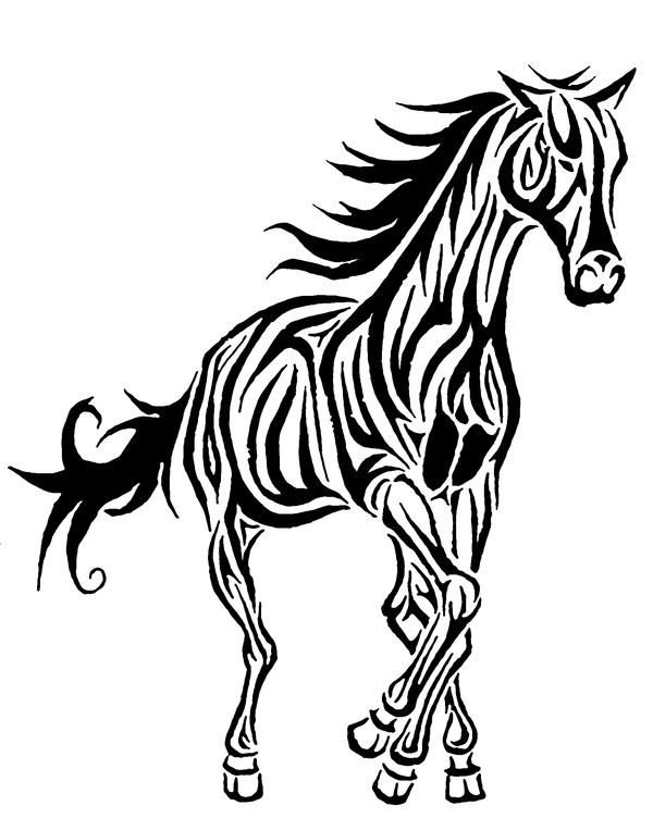 It is an image of Handy Tribal Horse Drawing