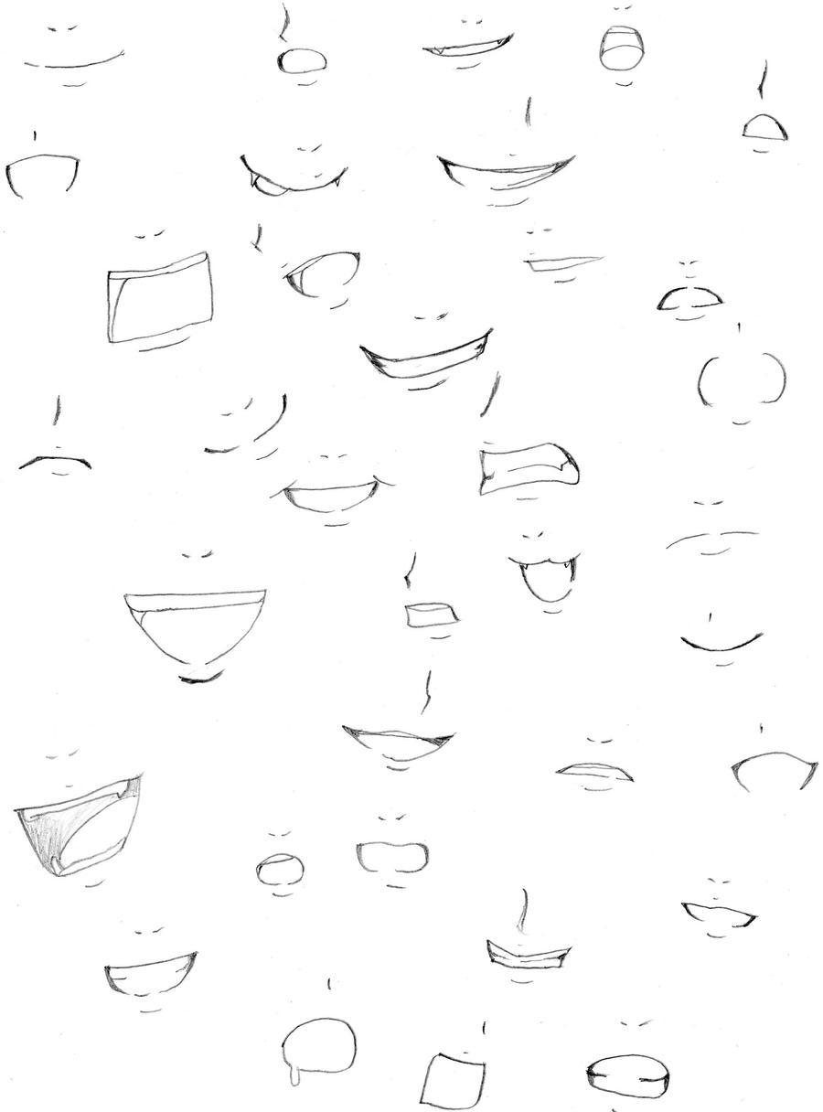Mouth practice by FoxTrotManga on DeviantArt