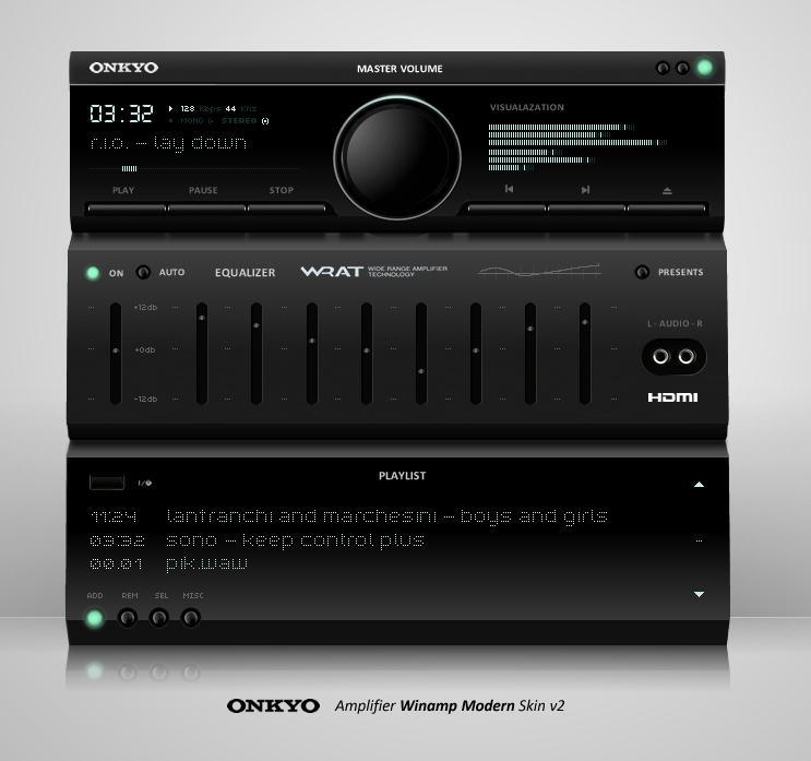 Onkyo Winamp Modern Skin V2