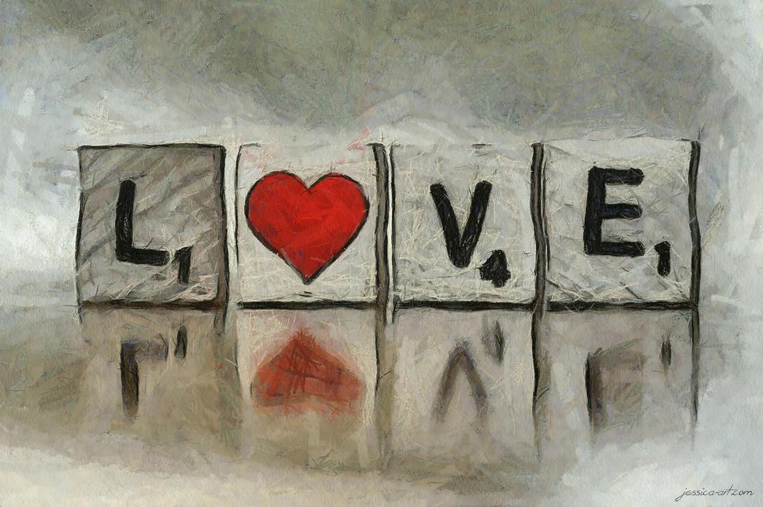 Love Scrabble by Jessica-Art