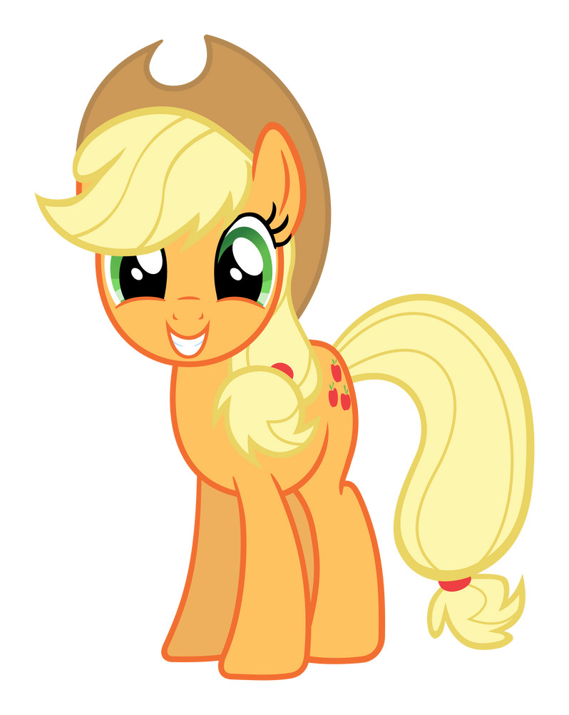Applejack Smiling by Lonely-Hunter
