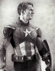 Captain America - Pencil Art by AngelynnB
