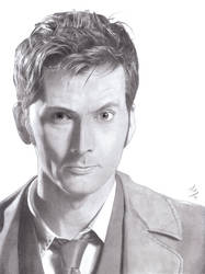 Commission: David Tennant as the Tenth Doctor by AngelynnB