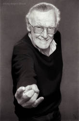 Excelsior! - Stan Lee Pencil Art by AngelynnB