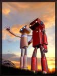 Robots in love.