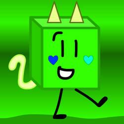 el gato cubo verde :v by TheNewBGGAMING
