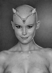 Kate With Horns by lameartist