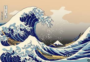 The Great Wave Off Kanagawa by VectorJones