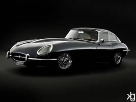 Jaguar E-Type by VectorJones
