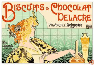 Biscuits and Chocolat Delacre by VectorJones