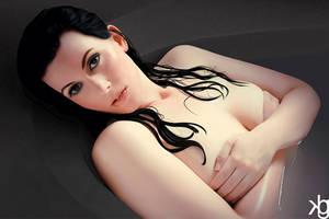Wet Rose by VectorJones