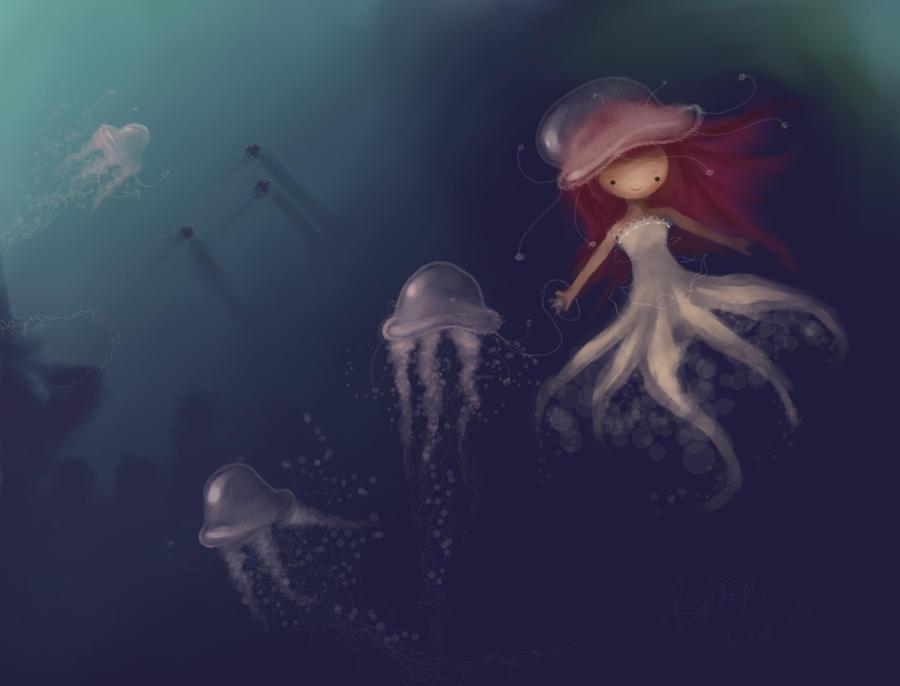 Friendship Underwater by Opheii