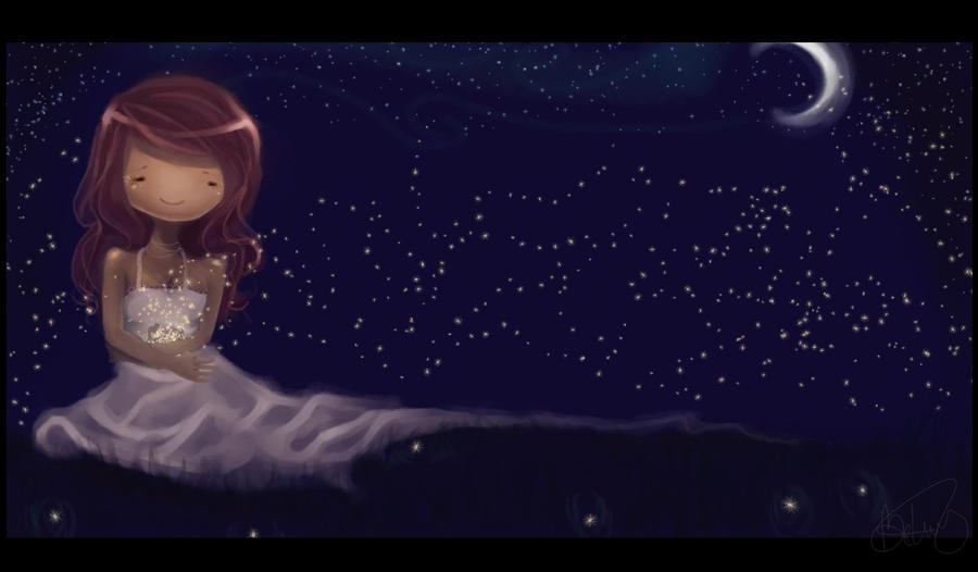 Fireflies by Opheii