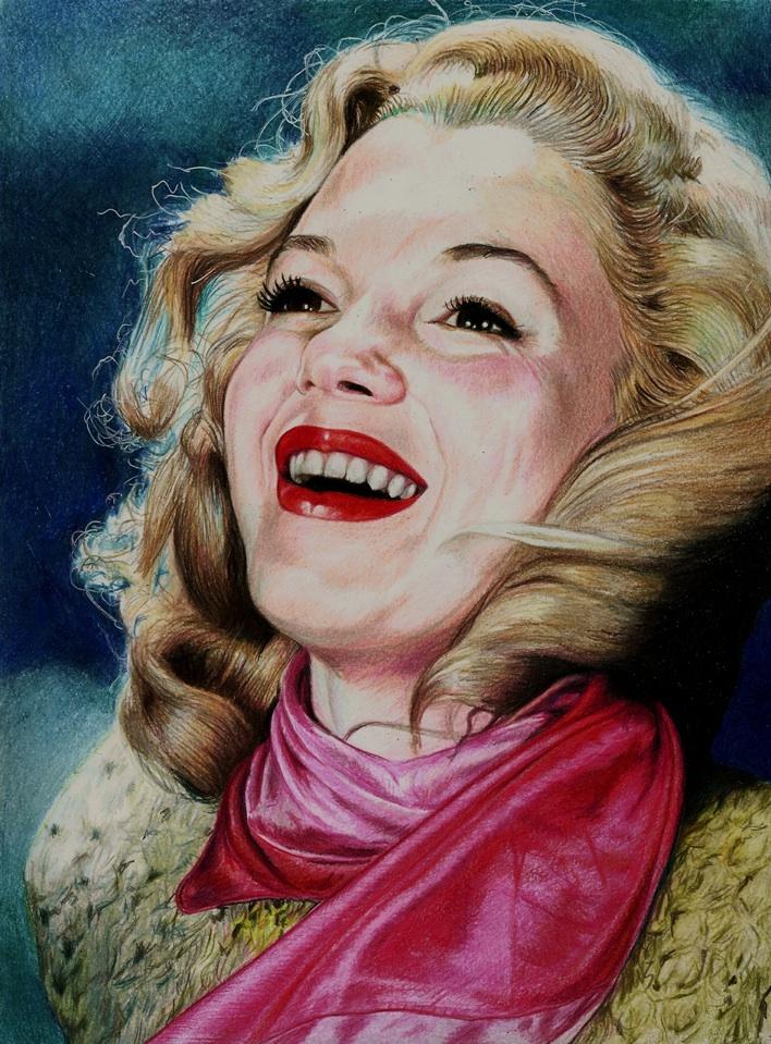Norma Jeane Baker - Marilyn Monroe by Pevansy