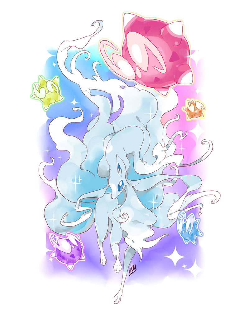 Ninetales And Miniors by Le-av