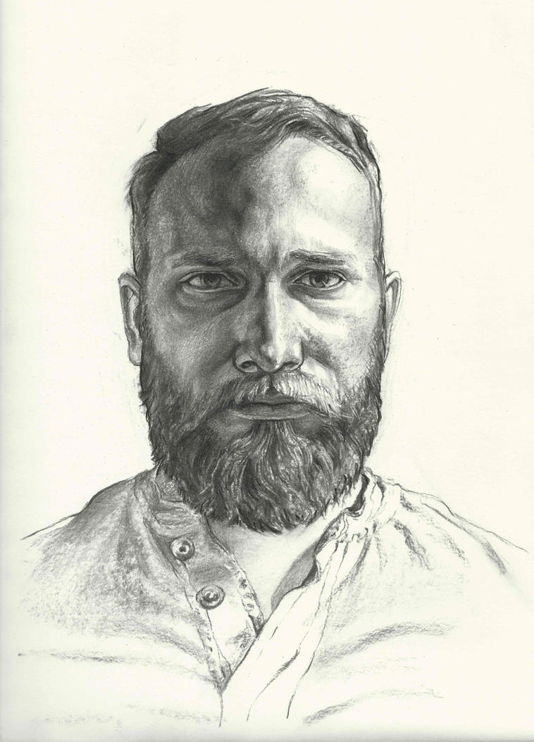 Charcoal portrait #3 by Xelael