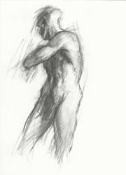 Charcoal figure study #2