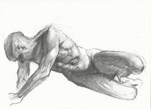 Charcoal figure study