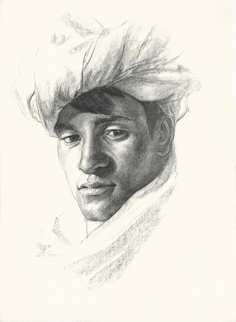 Charcoal portrait #2 by Xelael