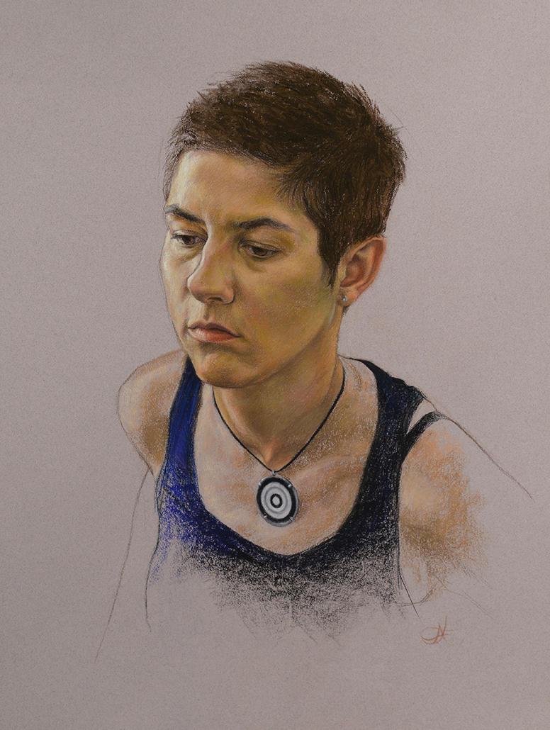 Pastel portrait #2 by Xelael