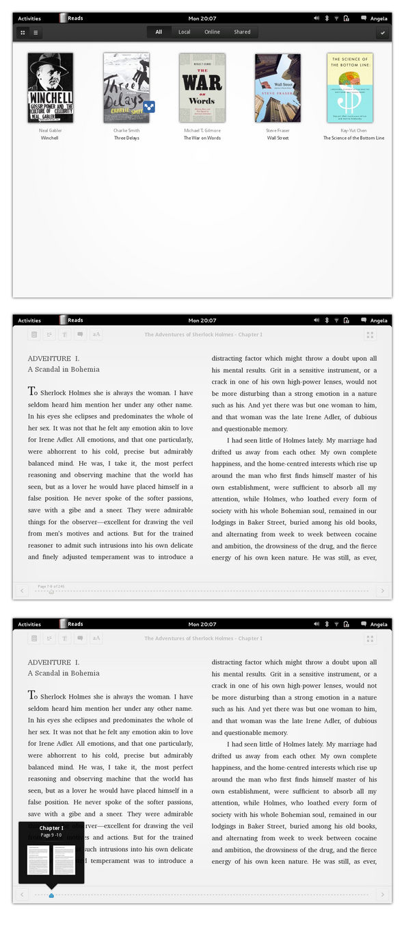 GNOME 3: Reads by albaux