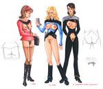 Erotic Earth Star Trek: Federation Uniforms by TCatt