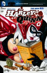 Harley Quinn #0 Blank Cover - front by TCatt