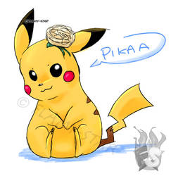 Pika with carnation