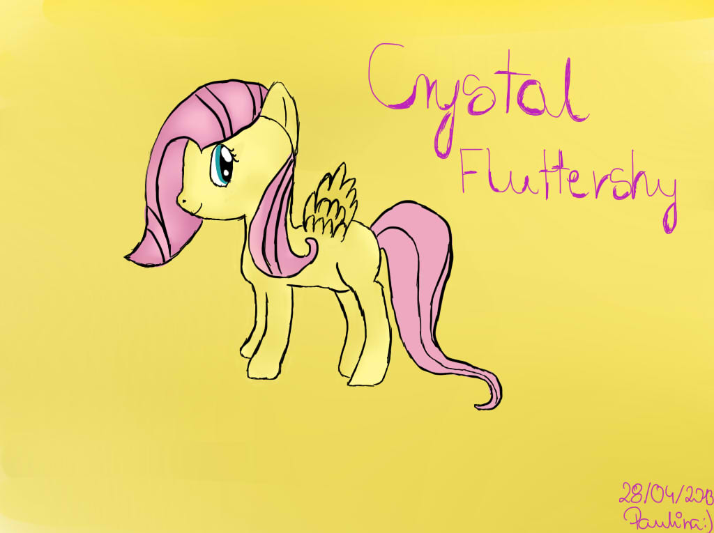 My Little Pony - Crystal Fluttershy by TesterkaGier