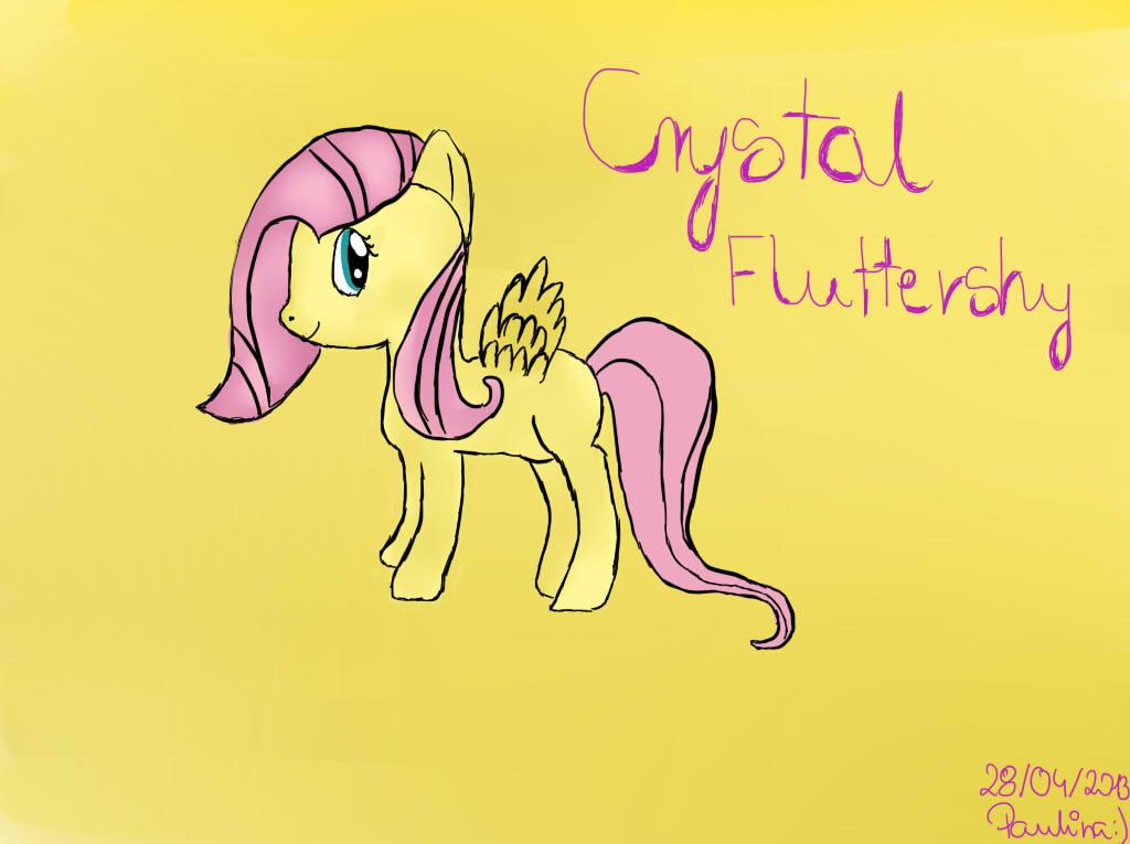 My Little Pony - Crystal Fluttershy by TesterkaGier