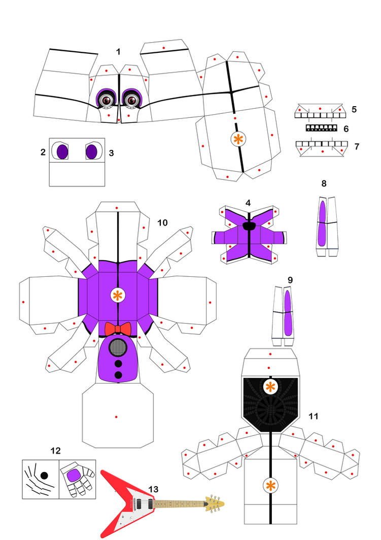 Papercraft funtime bonnie 1 by aknupheap on deviantart