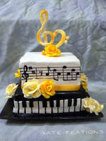 Music Cake by katiesparrow1