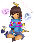 Frisk And Undertale Ponys