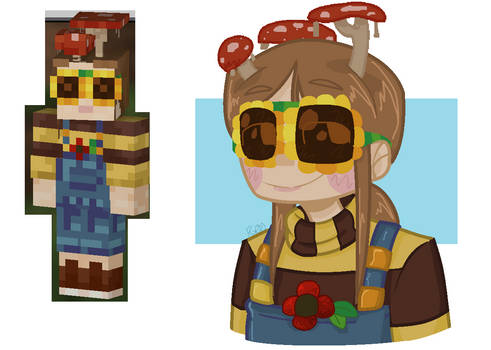 My Minecraft Bedrock Skin in my art style
