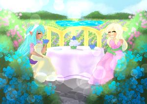 Having tea in the garden |Spring Edition challenge