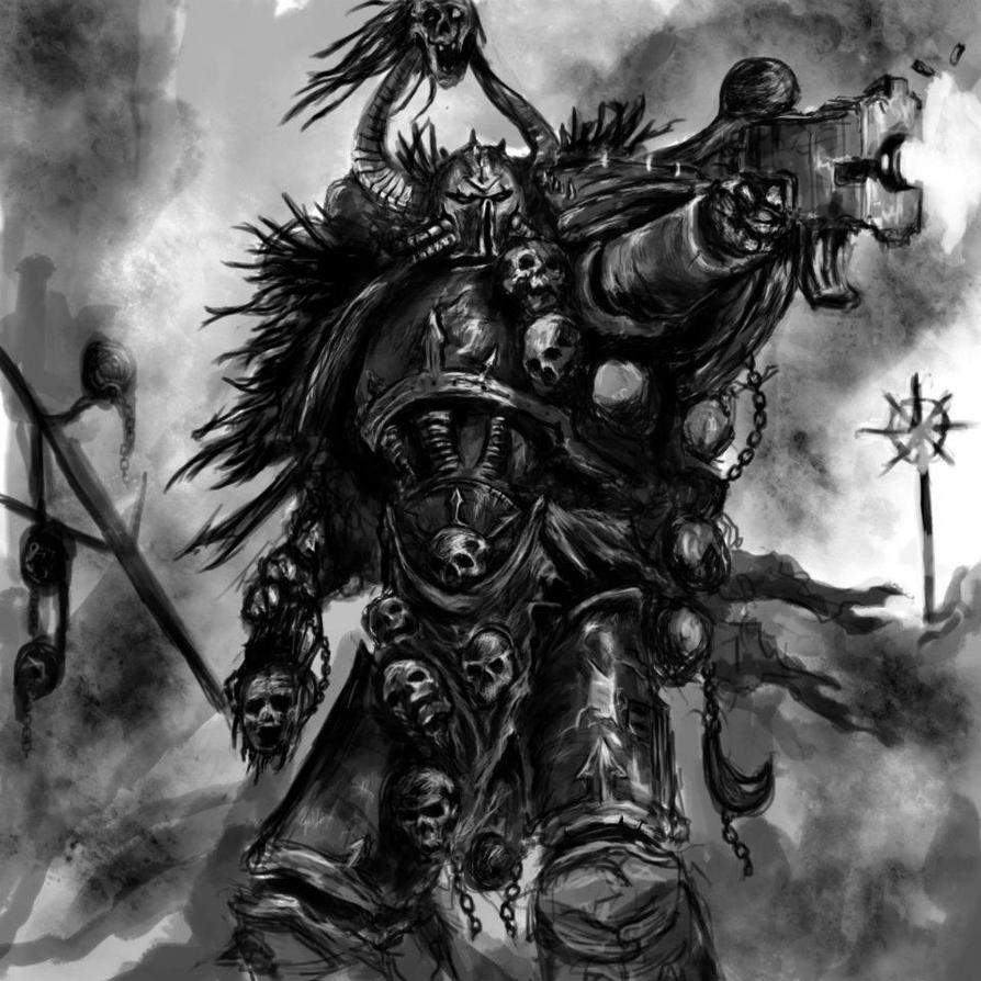 Chaos Space Marine by TheRyuOG on DeviantArt  Chaos Space Mar...