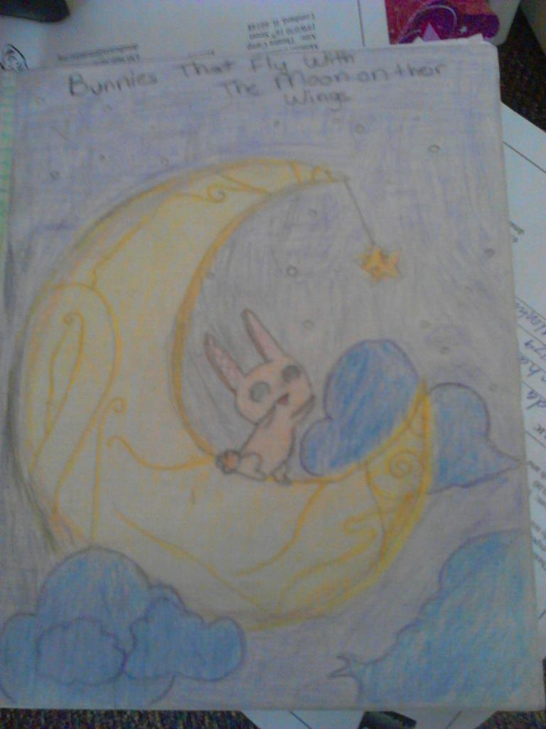 Bunnies That Fly with the Moon on their Wings by lirbunniesbow